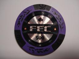 全新 FEC 伍豐 Tigre De Cristal 水晶虎宮殿賭場籌碼500盧布 現賣1枚80元 無使用期限