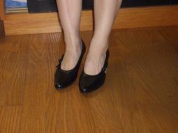 黑色素面超好穿好搭尖頭小羊皮舞鞋65~~~~73