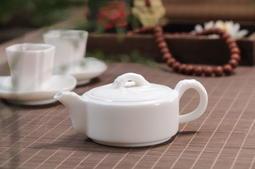 【茶嶺古道 】羊脂 玉瓷 竹節壺/ 厚實 瓷壺 泡茶壺 純白 德化白 標準壺