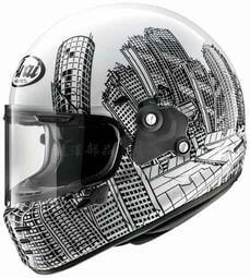 瀧澤部品 日本ARAI RAPIDE-NEO 全罩安全帽 ROARS 塗鴉黑白 復古造型 美式個性 通勤機車重機 樂高帽