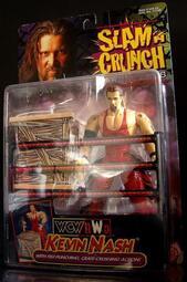 1999 美職摔角 WCW NWO SLAM CRUNCH KEVIN NASH 凱文 奈許  富貴玩具店