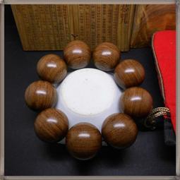 【逸品禪】30mm*9顆『收藏級』金絲檀  沉水手珠/木雕 佛珠--原價1580@非肖楠.
