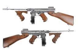 【翔準軍品AOG】King Arms 芝加哥打字機 M1928衝鋒槍Mosfet特別版Ver2-銀色 二戰  電動槍