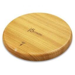 紐頓電子 公司貨 開發票★ j5create 凱捷 JUPW1101W 10W木紋無線充電盤