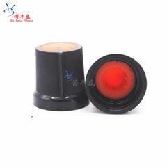 [含稅]AG3 塑膠旋鈕 梅花帽子 配電位器 WH148 R097 孔6MM 15X17mm 橙色10個