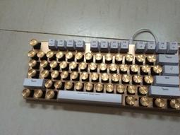 ★訂製★機械鍵盤 個性鍵帽 頂級 金屬鍵帽 復古打字機 黃銅鍵帽 1x 無刻 另可雷射 CNC雕刻 Cherry軸