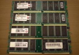金士頓 Kingston + 創見Transcend DDR1-400 1G 1GB 雙面顆粒 終生保固 2個品牌各2條