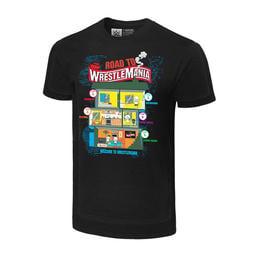 ☆阿Su倉庫☆WWE WrestleMania 36 Road to WrestleMania Tee 摔角狂熱紀念衣