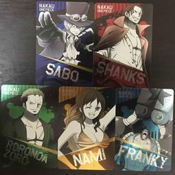 日本帶回//海賊王//なか卯限定卡片//索隆/弗朗基/紅髮捷克/薩波/另有代購/2月中寄出
