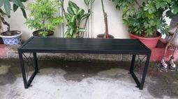 [兄弟牌戶外休閒傢俱] ~鐵製烤漆雙人長板凳L120*W34*H45~鐵烤漆門口騎樓公園陽台,堅固耐用。
