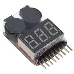 [史巴克]* AOK 1S-8S鋰電池電壓測電器,BB CALL 低壓警報器
