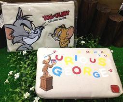 日本湯姆貓與傑利鼠 喬治猴筆袋 筆盒 Tom cat and Jerry mouse