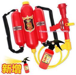 宜蘭童玩節必備  韓版 消防背包水槍+滅火器水槍 二件組 夏天沙滩戲水 玩具
