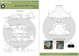 "1/72Bestfong水貼紙~美國F-5E/F戰鬥機的國徽,""中正""字樣,儀表與各式細部"