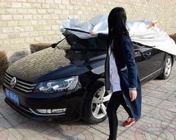 車衣車罩防曬防雨隔熱防塵便捷拉杆半自動汽車套子遮陽布加厚鋁膜