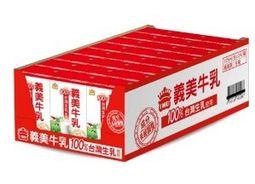 100%台灣生乳製-義美牛乳(125毫升/瓶) x72瓶