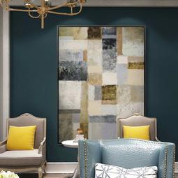 C - R - A - Z - Y - T - O - W - N 復古色塊歐式抽象壁畫客廳現代裝飾畫餐廳玄關樓梯口掛畫