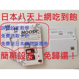 特價可面交 DOCOMO 全日本沖繩北海道8天4G+3G網路吃到飽 日本網卡 日本上網卡 日本上網吃到飽