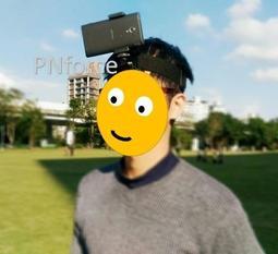 [PNforce] 頭戴式 免持 手機架 (5.5吋以下) 自拍 直播 行車紀錄 頭燈照明  iphone