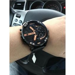 限時活動 迪賽手錶 DIESEL DZ7333 Mr Daddy 2.0 黑金霸氣大錶盤腕錶男手錶