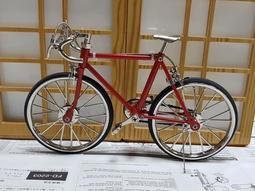全新鋅合金材質 19*11.5公分 自行車模型 腳踏車模型 公路車模型 輪胎可動 可小煞車