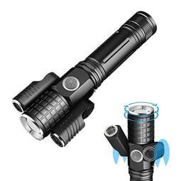 三燈強光LED多功能變焦式手電筒 USB 充電式 工作燈 探照燈 照明燈 手提燈 強光手電筒
