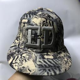 【☆16號倉庫☆】1元起標 ㊣精品收藏系列㊣ ED hardy 虎紋潮帽