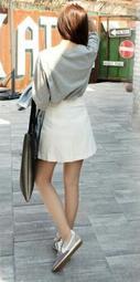 全新專櫃品牌 T-P^RTS casual coordinate 杏黃顆粒高質感短裙有內裡吊牌未拆
