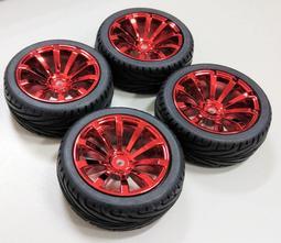 1/10 電鍍款 平跑胎 公路胎 競速胎 12mm輪座 HSP 京商 櫻花 田宮 94123 一車份