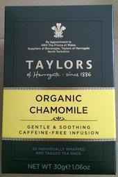 【吉瑞德茶坊】TAYLORS英國皇家泰勒有機洋甘菊茶20茶包/盒 無咖啡因  附發票
