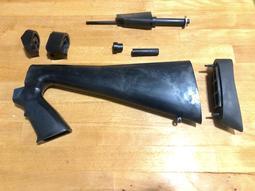 Remington M870用 戰術握柄形 黑色塑料固定槍托