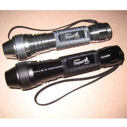 〈18650充電鋰電池+充電器全配〉Super  Fire 9V 氙氣 黃光 手電筒 照玉石 強光手電筒