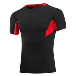 男士運動PRO 健身跑步緊身速乾短袖衫弹力壓缩T恤塑身衣