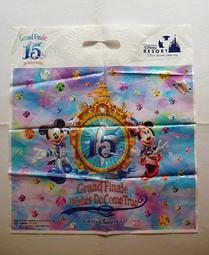 ◎挖寶庫◎全新日本東京迪士尼帶回的米奇米妮塑膠袋(大/正方形)