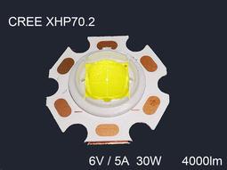 CREE XHP70.2 1A燈珠 6V白光 P70 30W高功率LED
