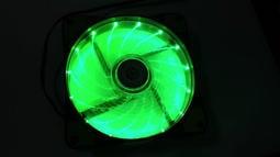 送風扇濾網 15燈LED 綠光風扇 機殼風扇 120x120x25mm 12公分LED風扇