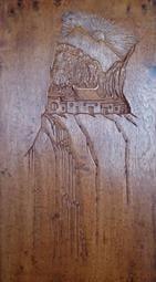 【啟秀齋】陳漢清 憶長春 牛樟木雕刻 浮雕 藝術掛屏 附作品保證書 長約62公分