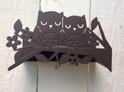 鐵匠職人design---新品發表 現貨2個----貓頭鷹水管收納架