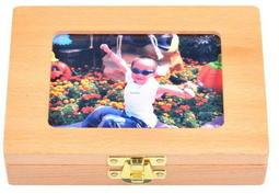 限時廠拍189【有現貨】高級原木DIY相框乳牙保存盒臍帶胎毛保存盒三合一 實木附記錄紙夾子乳牙盒乳牙收集盒好乳牙收藏盒