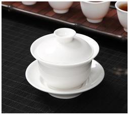 【紅芳庭】羊脂 玉瓷 蓋碗 / 中國白 白瓷 蓋碗 蓋杯 茶道具 茶壺 茶具 瓷器 透光 台製