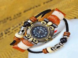 S8079_復古皮革手錶古典男女手鏈手環