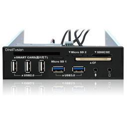 【全新附發票】伽利略5.25吋多介面整合器(ATM讀卡機/USB 2.0+3.0HUB/AUDIO)(RHU03)