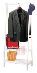 [自然傢俱坊]-松河-阿爾斯衣架依戀(實木)衣架(白)-AR-8042W-[自行組裝]-(民宿.商旅.套房.服飾.婚紗)