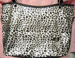 銀色豹紋兩用包