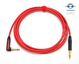 RED. Canare GS6 GS-6 RCA to RCA Audio Cable 2 Ft