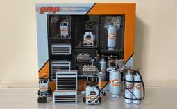 (場景專用) GMP 1/18 🇺🇸美國 Gulf 海灣石油 工具組 (B) 非 autoart Snap-on