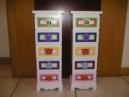 全新 兒童 整理櫃 (收納盒)(23x19x65cm)亦可當床頭櫃