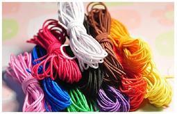 [SunDay購]手作1mm娃衣用超細鬆緊帶 串珠線 彩色橡皮筋 3米 共11色