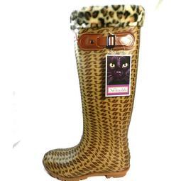 【三和牌雨鞋】 Mitsushiba 禦寒長筒防水雨靴~雨鞋~長靴~靴子~馬靴~時尚豹紋款 三和牌公司 台灣製造品質保證