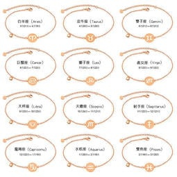 《 QBOX 》FASHION 飾品【B100N050】 精緻秀氣十二星座玫瑰金鈦鋼腳鍊/腳環